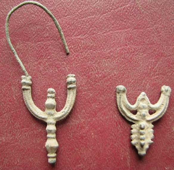 Ancient Artifact Bronze Earrings